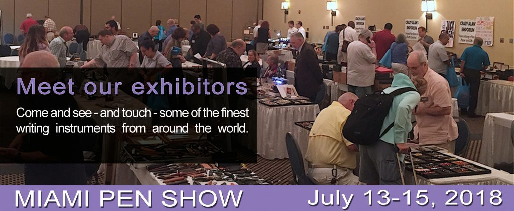 Meet our exhibitors at the Miami pen show